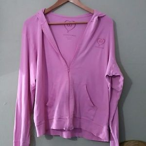 Victoria's Secret hoodie with hearts. Zipper.
